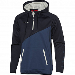 Толстовка муж. 1/4 ZIP TECH FLEECE HOODY DARK SAPPHIRE/ENSIGN BLUE