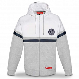 F4750 CCM HERITAGE FULL ZIP HOODED FLEECE WHITE White