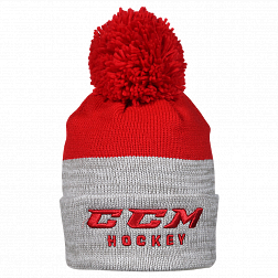 Шапка TRUE TO HOCKEY KNIT POM RED