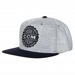 Кепка C4756 CCM HERITAGE FLAT BRIM SNAP BACK CAP Athletic Grey