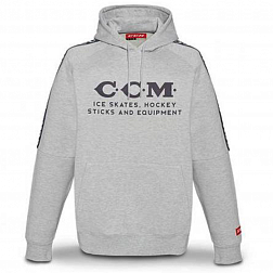 Толстовка F4758 CCM HERITAGE LOGO HOODED FLEECE AGY Athletic Grey