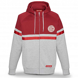 Толстовка F4750 CCM HERITAGE FULL ZIP HOODED FLEECE Carnelian Red