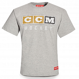 Футболка T4852 CCM VINTAGE LOGO TEE Athletic Grey