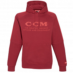 Толстовка F4758 CCM HERITAGE LOGO HOODED FLEECE Carnelian Red
